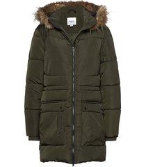 u7008, woven jacket parka lange jas jas groen saint tropez