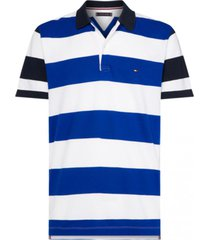 polera polo multi bicolor tommy hilfiger