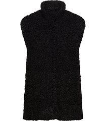 ka balma waist coat vests knitted vests svart kaffe