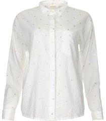 blouse met gouden stippen fien  wit