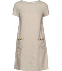 teardrop dress korte jurk beige ida sjöstedt