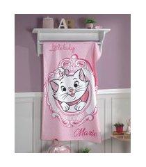 toalha de banho infantil de algodão marie estampada de poá rosa