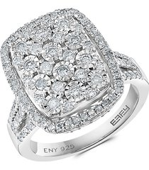 effy eny women's sterling silver & diamond cocktail ring - size 7