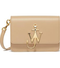 'logo' plate mini leather crossbody bag