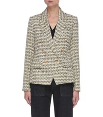kenzie' double breast tweed blazer