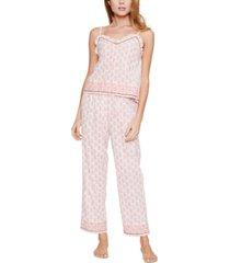 reverie rosalyn cotton printed cami pajama set