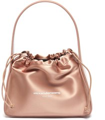 'ryan' drawstring satin bag