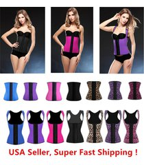 2016 dh women latex shapewear cincher underbust corset body shaper waist trainer