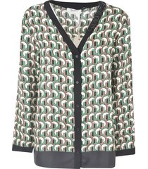 max mara all-over printed cardigan
