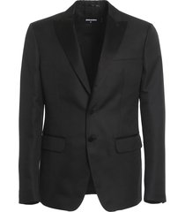 tuxedo jacquard blazer