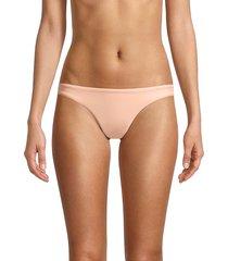petal and sea by pq women's scoop low-rise bikini bottom - peach - size s