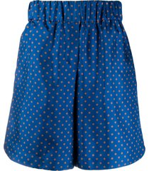 alberto biani wide-leg shorts - blue