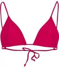 amaro feminino biquini top cortininha nó, pink