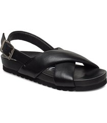pino sandal 11399 shoes summer shoes flat sandals svart samsøe samsøe