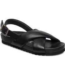 pino sandal 11399 shoes summer shoes flat sandals svart samsøe samsøe