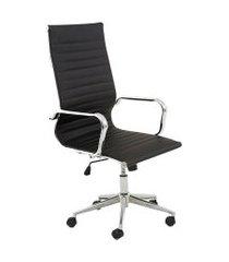 cadeira de escritório presidente sevilha estofada preta