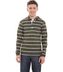 buzo verde howard jersey rayado