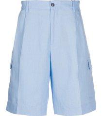 dolce & gabbana pleated bermuda shorts - blue