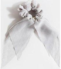 lily short pony scarf - light blue