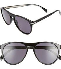 men's eyewear by david beckham db1008/s 55mm round keyhole sunglasses -