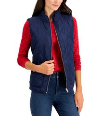 charter club quilted vest, in regular & petite, created for macy's