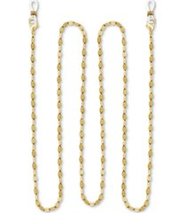 "essentials gold-plated dapped link 25"" glasses or face mask chain"