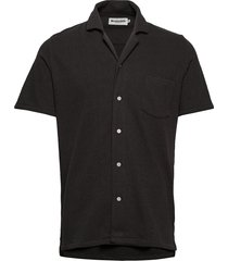resort shirt terry kortärmad skjorta svart resteröds
