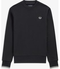 fred perry m7535 crewneck sweater 248 navy -