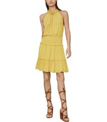 bcbgmaxazria flounce-hem satin mini dress