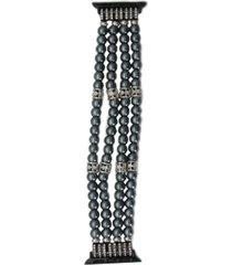 nimitec ceramic faux pearl and stone apple watch bracelet
