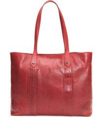 frye melissa leather shopper - red