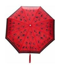 boutique moschino guarda-chuva com estampa snoopy - vermelho
