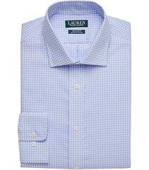 lauren by ralph lauren men's light blue gingham regular fit dress shirt - size: 15 1/2 34/35