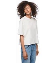 polera dua lipa x pepe jeans mc blanco - calce oversize