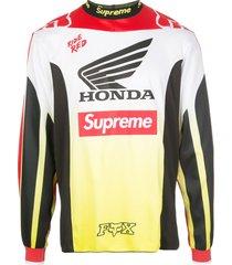 supreme x honda x fox racing moto jersey t-shirt - red