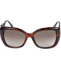 56mm squared cat eye sunglasses