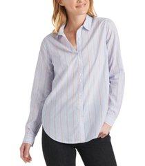 lucky brand classic-stripe button-up shirt