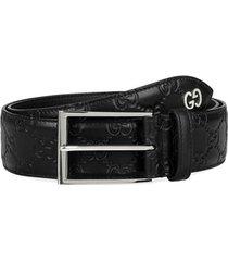men's gucci leather belt