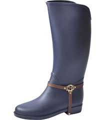 botas lluvia impermeable golden insignia bottplie - azul / cafe