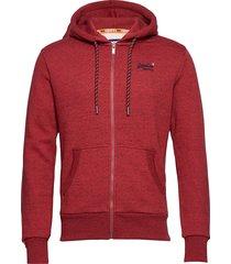 ol cali zip hood hoodie trui rood superdry