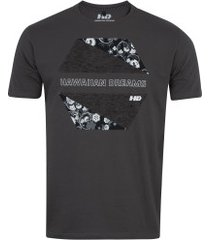 camiseta hd estampada beroque 6256a - masculina - cinza escuro
