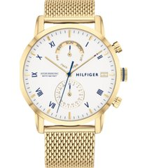 tommy hilfiger women's gold-tone stainless steel mesh bracelet watch 44mm