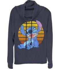 fifth sun women's disney lilo stitch bright stitch fleece cowl neck sweatshirt