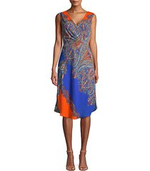 agatha paisley print shift dress