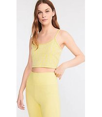 lou & grey gingham ponte cropped cami