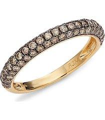 14k yellow gold & mocha diamond ring
