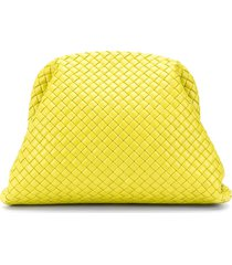 bottega veneta the pouch clutch bag - yellow