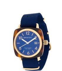 briston watches clubmaster classic acetate watch - blue