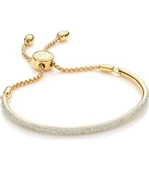 fiji diamond bar bracelet, gold vermeil on silver
