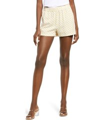 women's vero moda astimilo woven shorts, size x-large - ivory